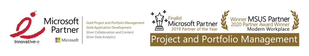 Innovative-e Named 2020 Winner of Microsoft US Partner Award in Project & Portfolio Management Space